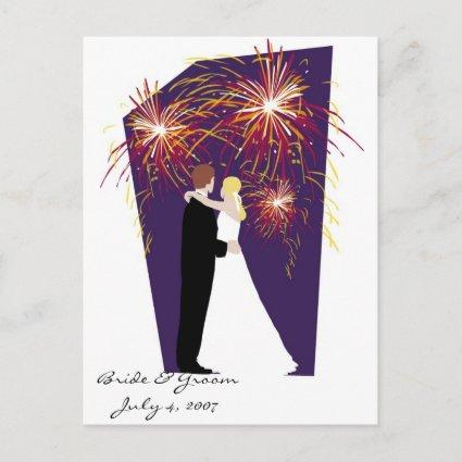 Bride & Groom Save the Date-July 4th Weddings Announcement