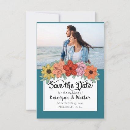 Bright and Bold Storybook Wedding Save the Date Thank You Card