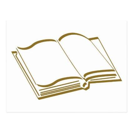 Brown Calligraphic Line Blank Book
