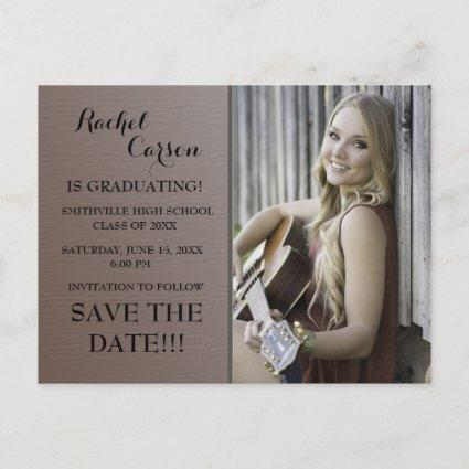 Brown Ombre' Save the Date Photo  Graduation Announcements Cards
