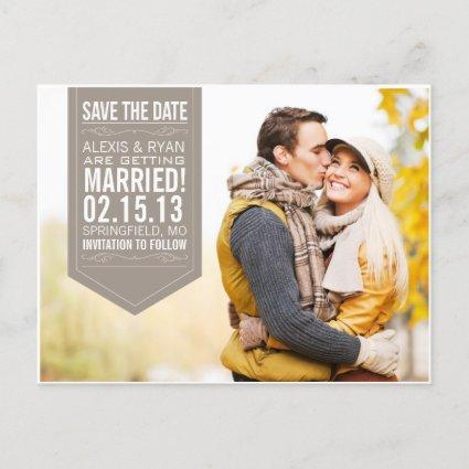 Brown Save The Date Announcements Cards