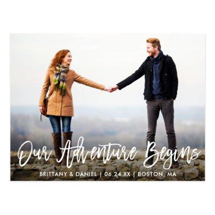 Brush Script Save The Date Adventure Photo