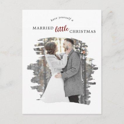 Brushed Red Marry Little Christmas Save the Date Holiday