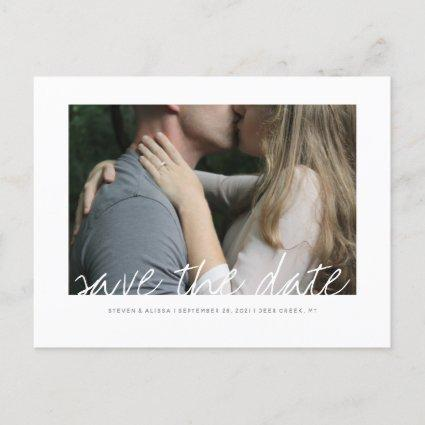 Brushed Save the Date Invitation