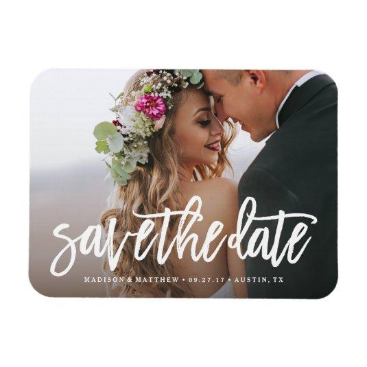 Brushed Save the Date Magnets
