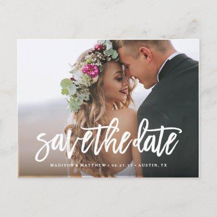 Brushed Save the Date Cards