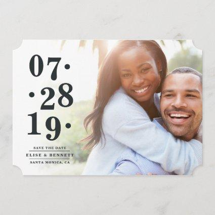 Bubbly Date | Photo Save the Date Cards