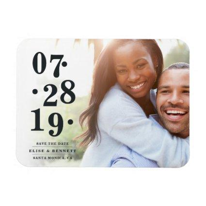 Bubbly Date | Photo Save the Date Magnet