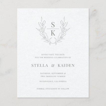 Budget Floral Leaves Sketch Wedding Save The Date