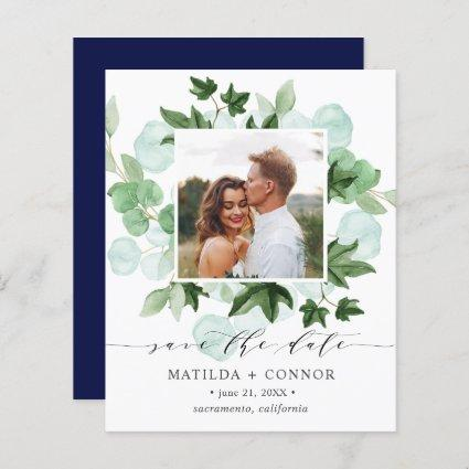 BUDGET Hedera | Green Ivy Navy Photo wedding