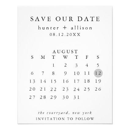 Budget Modern Save the Date Flyer