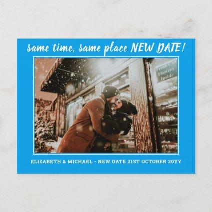 BUDGET Photo Change of Plans Save the Date Wedding