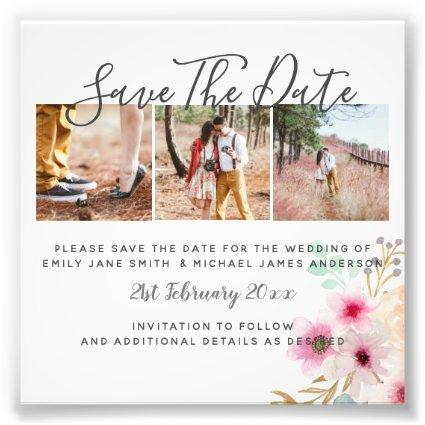 Budget PHOTO Collage Save The Dates Wedding Boho