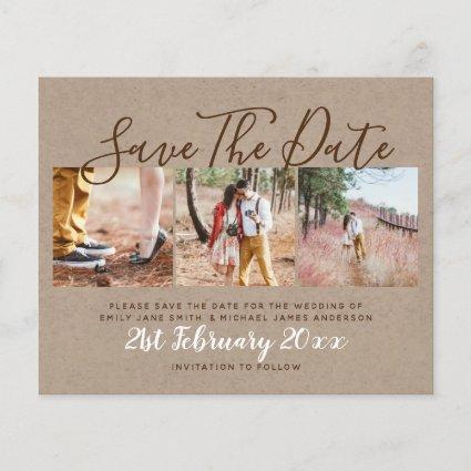Budget Rustic Photo Collage Save The Dates