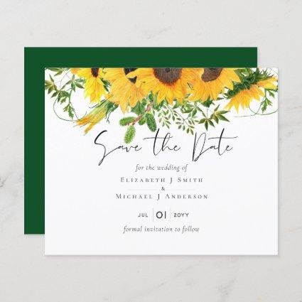 Budget Rustic Sunflowers Southern Wedding