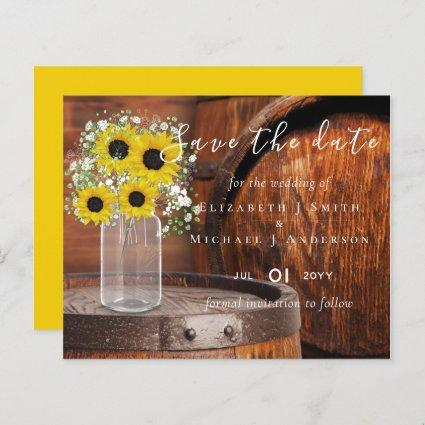 BUDGET Rustic Sunflowers Wedding Save Dates