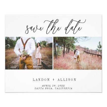 Budget Two Photo Save the Date Post Card