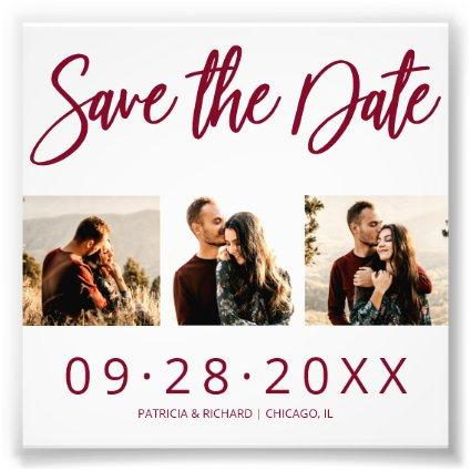 Budget Wedding Save The Date 3 Photo Collage