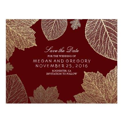 burgundy and gold leaves fall
