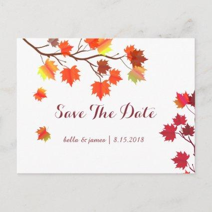 Burgundy Fall Wedding Save The Date Cards