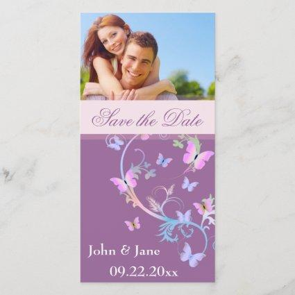 "Butterfly Flourish/photo  ""Save the Date"" Save The Date"