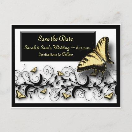Butterfly Theme Save the Date Announcement