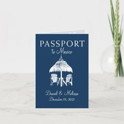 Cabo San Lucas Mexico Passport Save the Date Invitation