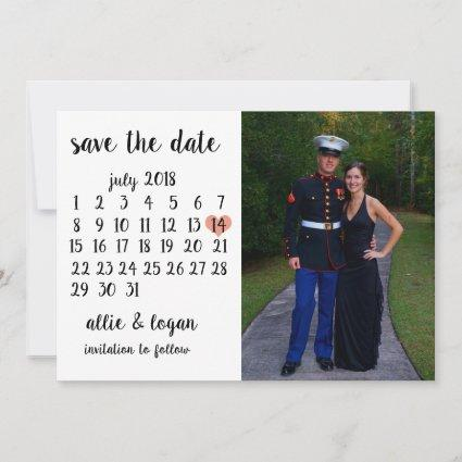 Calendar Photo Save the Date