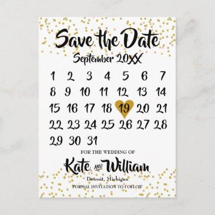 Calendar Save the Date Announcement