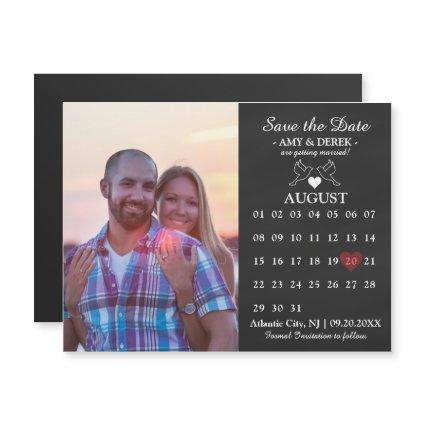 Calendar Save the Date Magnets Card