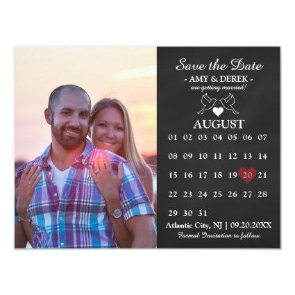 Calendar Save the Date Magnets Cards