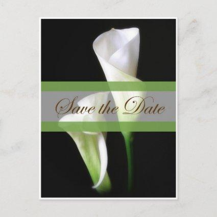 Calla Lily 2 Save the Date Wedding Announcement