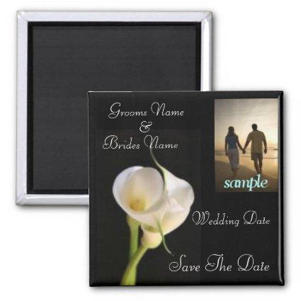 Calla Lily Elegant Save the Date Magnet