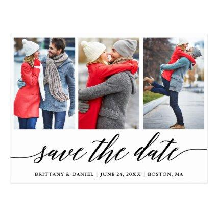 Calligraphy Save The Date Engagement 3 Photo