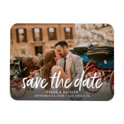 Calligraphy Save the Date Wedding Magnets