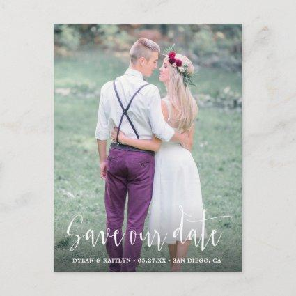 Calligraphy Save the Date Wedding Photo