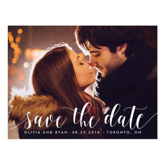 Calligraphy Script | Photo Save the Date Cards