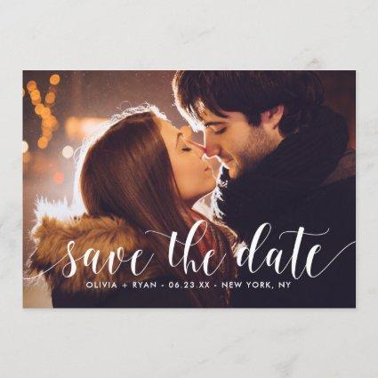 Calligraphy Script   Save the Date Announcement II