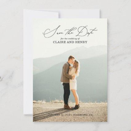 Calligraphy Wedding Save the Date Card