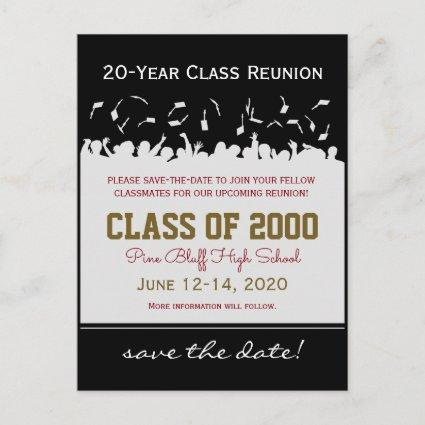 Cap & Gown Class Reunion Save-the-Date