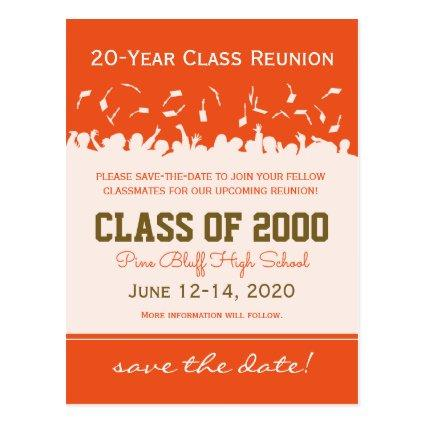 Cap & Gown Class Reunion Save-the-Date Cards