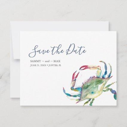 Cape Code Watercolor Crab Save the Date