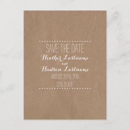 Cardboard Inspired Wedding Save The Date Announcements