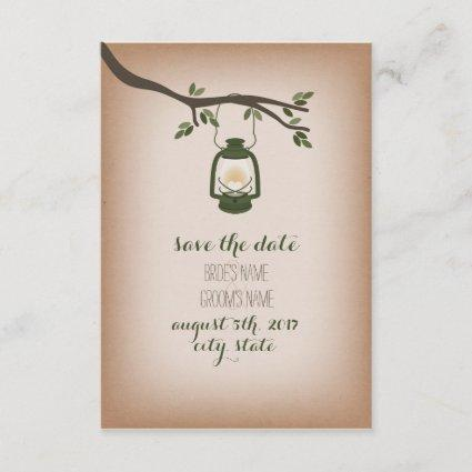 tock Inspired Camping Lantern Save The Date