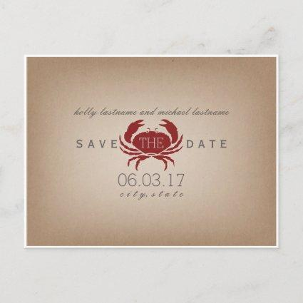 tock Inspired Crab Wedding Save The Date Announcement