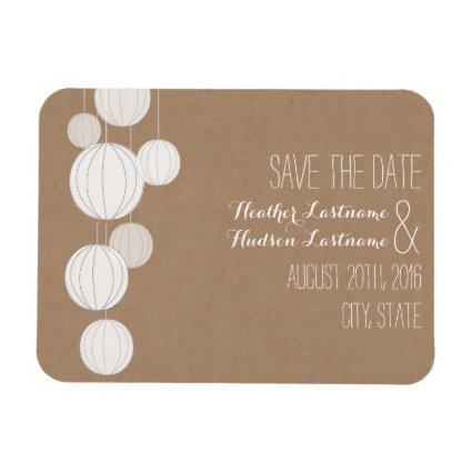tock Inspired Lanterns Wedding Save The Date Magnets