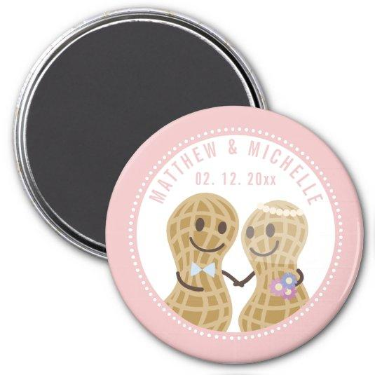 Cartoon Nuts About Each Other Unique Save The Date Magnet