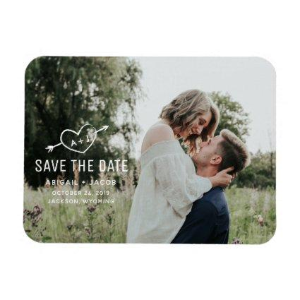 Carved Heart Save the Date Magnets