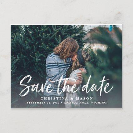 Casual Brush | Photo Save the Date Announcements Cards