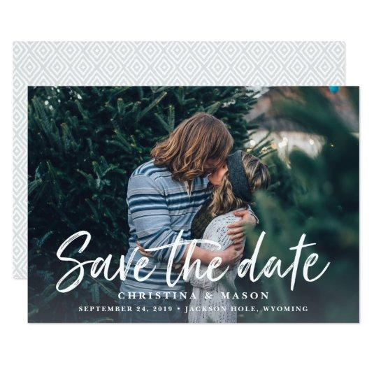 Casual Brush | Photo Save the Date Cards